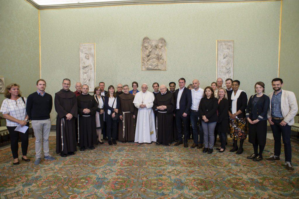 MZF Privataudienz bei Papst Franziskus bitte mit Quellenangabe Vaticanmedia MZF